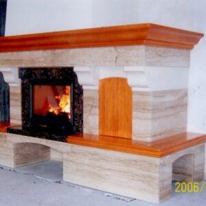 Breccia Sardo márvány kandalló